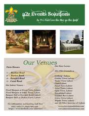 At a2z Events Solutions,  Our luxury wedding venues are the perfect